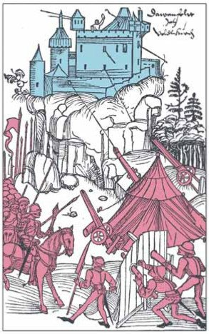"Xilografi a da ""Schwäbische Chronik"" di Thomas Lirer, Ulm, 1486."